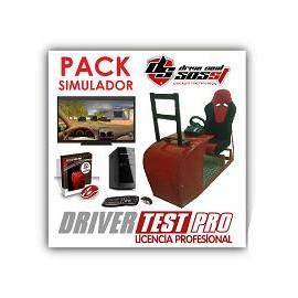 Pack ahorro - Cockpit DRIVE SEAT 403ST + Programa de simulación DRIVER TEST PRO + Ordenador + TV