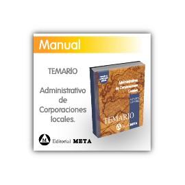 Libro de temario - Administrativos de Corporaciones Locales (Diputaciones y Ayuntamientos)